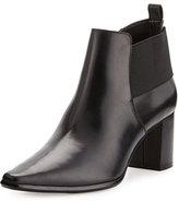Donald J Pliner Lio Leather Mid-Heel Bootie, Black