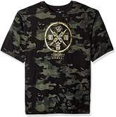Southpole Men's Big and Tall Short Sleeve Camo Thunder Foil Print Logo Tee