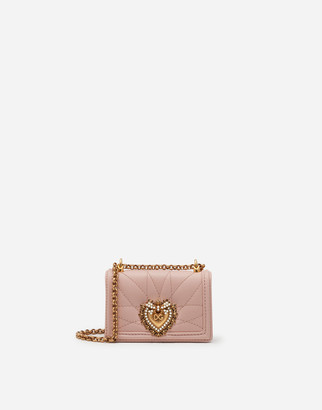 Dolce & Gabbana Devotion Micro Bag In Quilted Nappa Leather