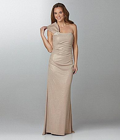 Night Way One-Shoulder Gown