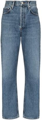 AGOLDE Five-Pocket Straight-Leg Jeans