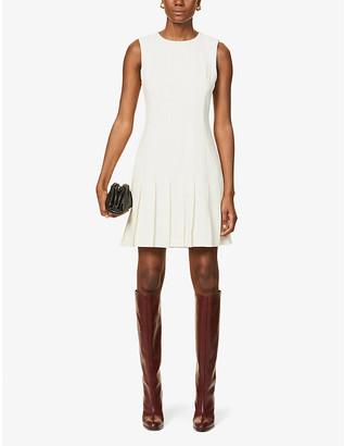 Theory Sleeveless woven mini dress