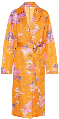 Dries Van Noten Floral silk-blend coat