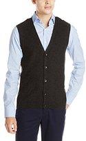 Perry Ellis Men's Cotton Blend Solid Sweater Vest