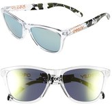 Oakley Men's 'Frogskins Eric Koston Signature Series' 55Mm Sunglasses - Clear/ White