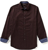 Michael Kors Chance Tailored-Fit Long-Sleeve Checked Woven Shirt