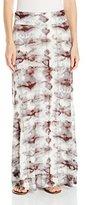 OneWorld Women's Elastic Waist Knit Tie Dye Maxi Skirt