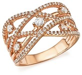 Bloomingdale's Diamond Crossover Ring in 14K Rose Gold, .65 ct. t.w. - 100% Exclusive