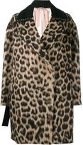 No.21 leopard print coat - women - Cotton/Polyamide/Acetate/metal - 38