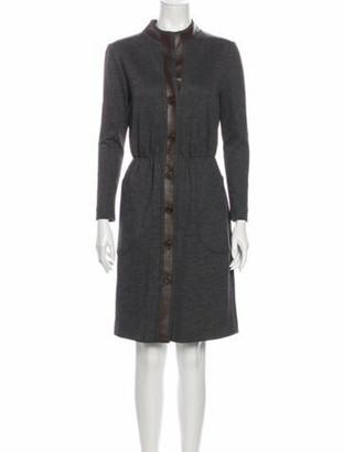 Barneys New York Wool Knee-Length Dress Wool