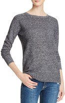 Aqua Cashmere High/Low Crewneck Cashmere Sweater
