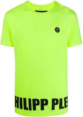 Philipp Plein logo patch printed T-shirt