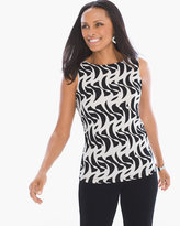 Chico's Twirling Lines Reversible Tank