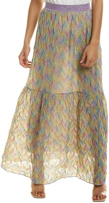 Missoni Gonna Lunga Silk-Blend Maxi Skirt