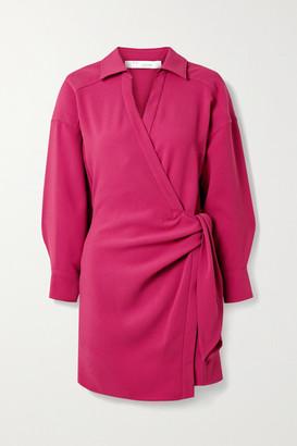 IRO Musea Crepe Wrap Mini Dress - Fuchsia