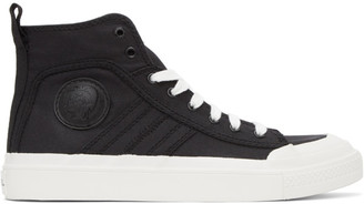 Diesel White and Black S-Astico Sneakers