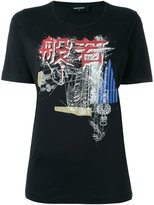DSQUARED2 ribcage sketch T-shirt