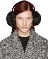 Carven Black Faux-Fur Ear Muffs