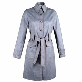 Muza Single Breasted Denim Trench Coat