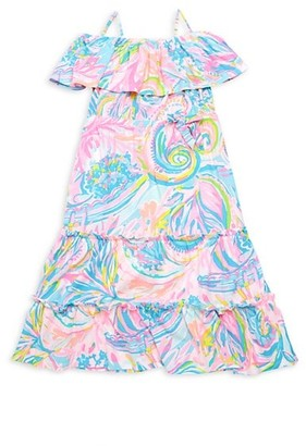 Lilly Pulitzer Little Girl's & Girl's Seraphina Off-The-Shoulder Tiered Dress