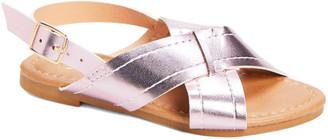 Ositos Shoes Girls' Sandals FUCHSIA - Fuchsia Crisscross Sandal - Girls