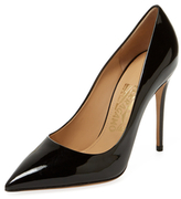 Salvatore Ferragamo Fiore Patent Leather Pump