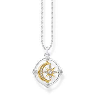 Thomas Sabo Moving Moon & Star Necklace 925 Sterling Silver - 38-42cm Length