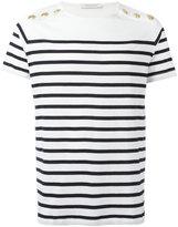 Pierre Balmain striped T-shirt - men - Cotton - 50