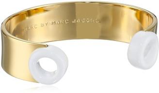 Marc by Marc Jacobs Talc Small Enamel Peephole Cuff Bracelet