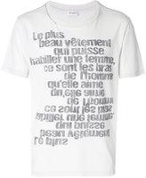 Saint Laurent slogan print T-shirt
