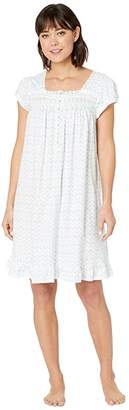 Eileen West Cotton Jersey Short Sleeve Short Nightgown