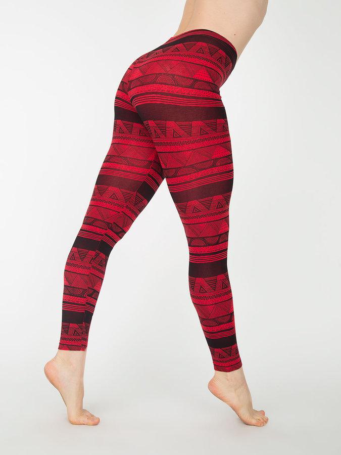 American Apparel Afrika Print Cotton Spandex Jersey Legging