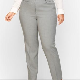 Talbots Plus Size Hampshire Ankle Pants - Heathered Double Crepe