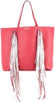 Sara Battaglia fringed shopping bag