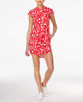 Armani Exchange Printed Belted Shirtdress