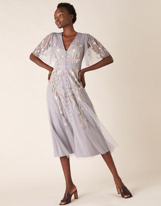 Under Armour Natalia Floral Embellished Tea Dress Grey