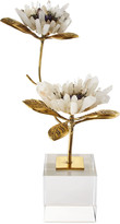 John-Richard Collection John Richard Collection Double Crystal Bloom Floral Sculpture