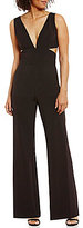 Laundry by Shelli Segal Plunge V-Neck Jumpsuit