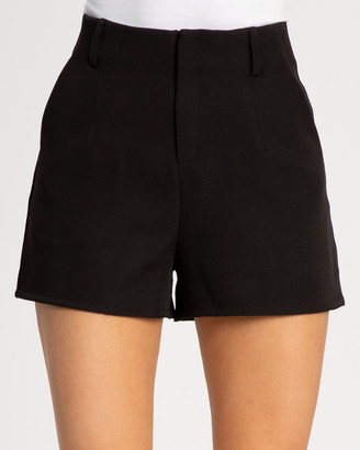 Reux - Women's Black High-Waisted - Ryan Shorts - Size One Size, 6 at The Iconic