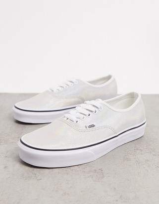 Vans UA Authentic Iridescent suede sneakers in white