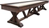 Playcraft Brazos River Weathered Brown Pro-Style Shuffleboard Table