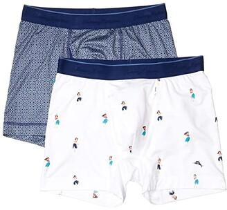 Tommy Bahama 2-Pack Mesh Tech Boxer Briefs (Navy Geo Tile/Hula Girl) Men's Underwear