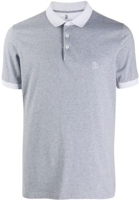 Brunello Cucinelli Embroidered Logo Cotton Polo Shirt