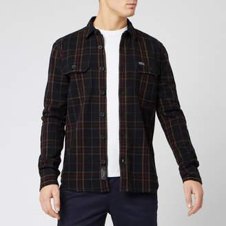 Superdry Men's Merchant Milled Long Sleeve Shirt - Black Check - S