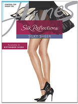 Hanes Silk Reflections Sheer Toe Control Top Pantyhose