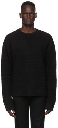 TAKAHIROMIYASHITA TheSoloist. Black Wool Fair Isle Sweater
