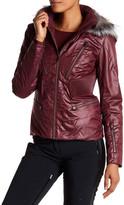 Spyder Posh Genuine Silver Fox Fur Trim Jacket