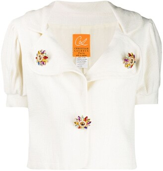 Christian Lacroix Pre Owned 1990's Puffed Sleeves Blouse