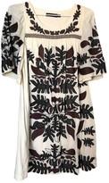 Antik Batik Beige Cotton Dress for Women