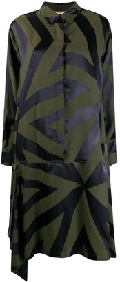 Odeeh Geometric-Print Shirt Dress